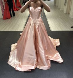 Mac Duggal Pink Size 4 Tall Height Ball gown on Queenly