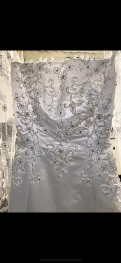 White Size 12 Train Dress on Queenly