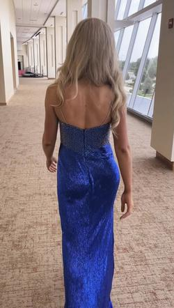 Sherri Hill Royal Blue Size 4 Fully-beaded Straight Dress on Queenly