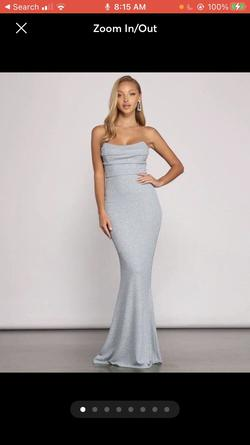 Windsor Silver Size 4 Jersey Mermaid Dress on Queenly