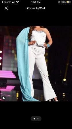 Ashley Lauren White Size 6 Fun Fashion Custom Jumpsuit Dress on Queenly