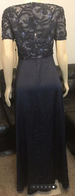 Adrianna Papell Soutache Gown Size 6 Blue Size 6 Short Height Mermaid Dress on Queenly