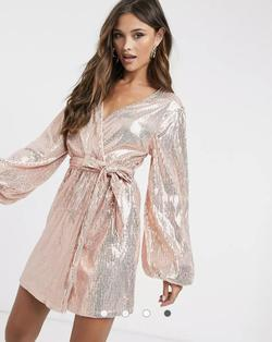 ASOS Rose Gold Size 2 Straight Dress on Queenly