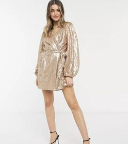 ASOS Gold Size 2 Straight Dress on Queenly