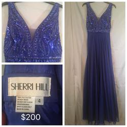 Sherri Hill Blue Size 4 Pageant Tall Height A-line Dress on Queenly