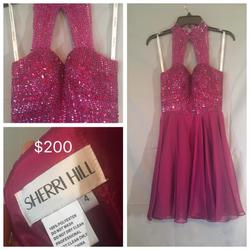Sherri Hill Pink Size 4 Tall Height Cocktail Dress on Queenly