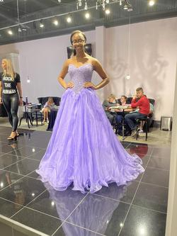Jovani Purple Size 4 Ball gown on Queenly