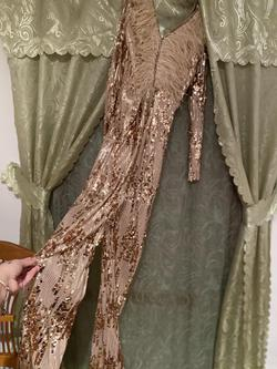 Gold Size 4 Jumpsuit Dress on Queenly