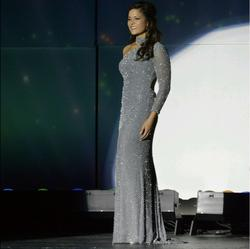 Silver Size 4 Straight Dress on Queenly