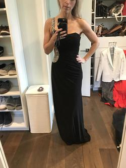 Jaaz Couture Black Size 2 Straight Dress on Queenly