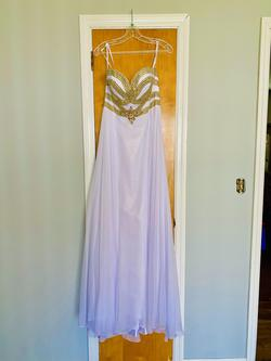 Alyce Paris White Size 8 Gold Straight Dress on Queenly