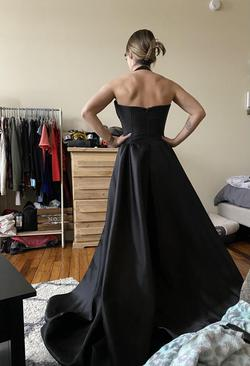 Fernando Wong Black Size 4 Corset Train Halter Straight Dress on Queenly