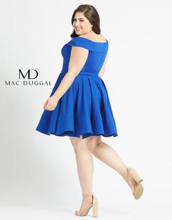 Style 48887 Mac Duggal Blue Size 18 Sorority Formal Tall Height Cocktail Dress on Queenly