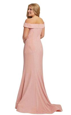 Style 48977 Mac Duggal Pink Size 12 Plus Size Pageant Mermaid Dress on Queenly