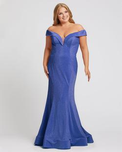 Style 48977 Mac Duggal Blue Size 26 Tall Height Mermaid Dress on Queenly