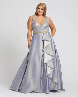 Style 48978 Mac Duggal Silver Size 22 Tall Height Ball gown on Queenly