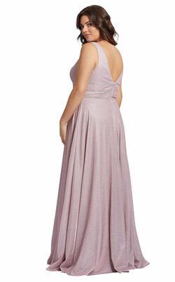 Style 49043 Mac Duggal Purple Size 24 Pageant Belt Side slit Dress on Queenly