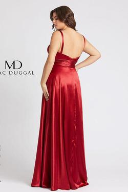 Style 49044 Mac Duggal Red Size 18 Sorority Formal Tall Height Wedding Guest Side slit Dress on Queenly