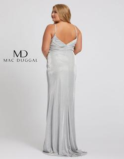 Style 49049 Mac Duggal SIlver Size 26 Tall Height Wedding Guest Side slit Dress on Queenly