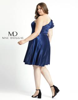 Style 49229 Mac Duggal Blue Size 16 Sorority Formal Tall Height Wedding Guest Cocktail Dress on Queenly