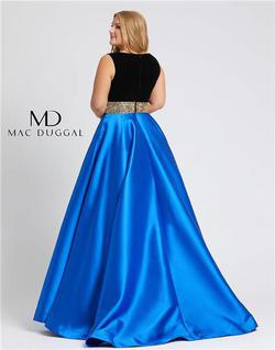 Style 66787 Mac Duggal Blue Size 14 Tall Height Ball gown on Queenly