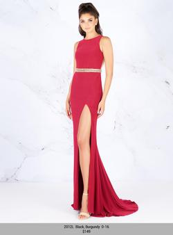 Style 2012 Mac Duggal Red Size 14 Tall Height Wedding Guest Side slit Dress on Queenly