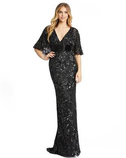 Style 4574 Mac Duggal Black Size 4 Tall Height V Neck Wedding Guest Mermaid Dress on Queenly