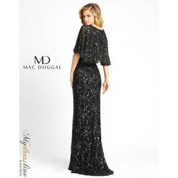 Style 4574 Mac Duggal Black Size 6 Tall Height V Neck Wedding Guest Mermaid Dress on Queenly