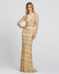 Style 4724 Mac Duggal Gold Size 0 Tall Height Wedding Guest Mermaid Dress on Queenly