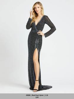 Style 4900 Mac Duggal Black Size 2 Long Sleeve Prom Mermaid Dress on Queenly