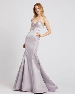 Style 6836 Mac Duggal Purple Size 4 Tall Height Mermaid Dress on Queenly