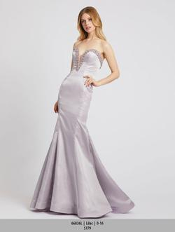 Style 6836 Mac Duggal Purple Size 10 Tall Height Mermaid Dress on Queenly