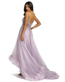 Style 11111 Mac Duggal Purple Size 12 Prom High Low Ball gown on Queenly