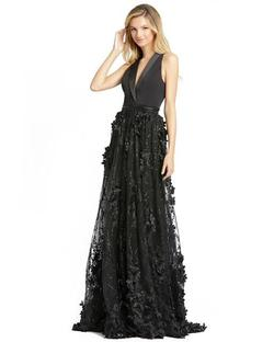 Style 12264 Mac Duggal Black Size 12 Prom A-line Dress on Queenly