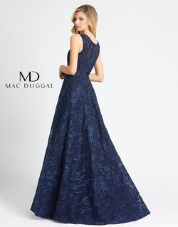 Style 20105 Mac Duggal Blue Size 8 Tall Height Wedding Guest Ball gown on Queenly