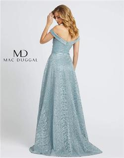 Style 20121 Mac Duggal Blue Size 4 Tall Height A-line Dress on Queenly