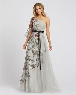 Style 20124 Mac Duggal Multicolor Size 10 Tall Height Wedding Guest A-line Dress on Queenly