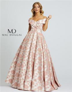 Style 25918 Mac Duggal Pink Size 6 Tall Height Ball gown on Queenly