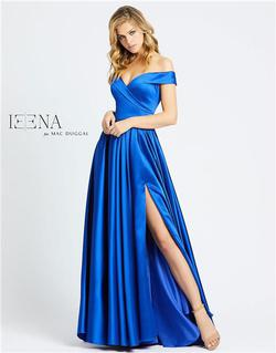 Style 25958 Mac Duggal Royal Blue Size 16 Silk Side slit Dress on Queenly