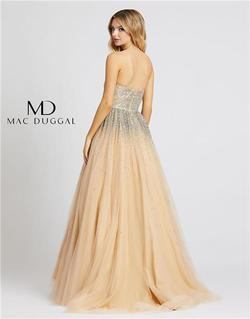 Style 26015 Mac Duggal Nude Size 6 Tall Height A-line Dress on Queenly