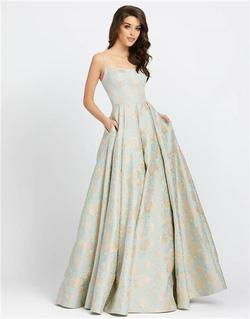 Style 26117 Mac Duggal Multicolor Size 10 Tall Height Wedding Guest Ball gown on Queenly