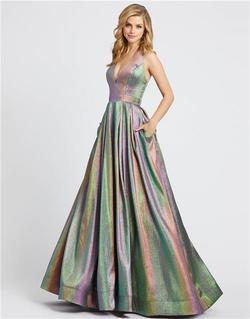 Style 26181 Mac Duggal Multicolor Size 12 Plus Size Pageant Halter Ball gown on Queenly