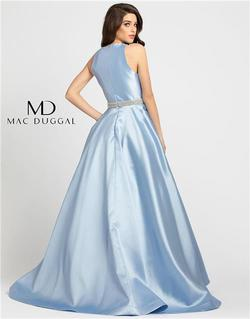 Style 55237 Mac Duggal Blue Size 10 Tall Height Ball gown on Queenly