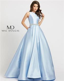 Style 55237 Mac Duggal Blue Size 14 Tall Height Ball gown on Queenly