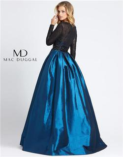 Style 62883 Mac Duggal Blue Size 16 Pageant Silk Ball gown on Queenly