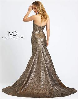 Style 66025 Mac Duggal Gold Size 6 Pageant Tall Height Mermaid Dress on Queenly