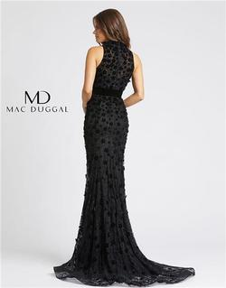 Style 66589 Mac Duggal Black Size 0 Tall Height Wedding Guest Mermaid Dress on Queenly