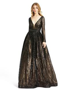 Style 67103 Mac Duggal Black Size 20 Plunge Pageant Ball gown on Queenly