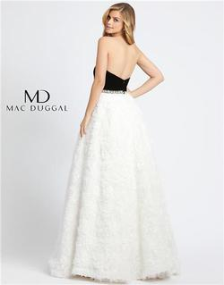 Style 67684 Mac Duggal White Size 0 Tall Height Ball gown on Queenly
