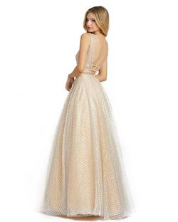 Style 77402 Mac Duggal Nude Size 8 Backless Tall Height Ball gown on Queenly